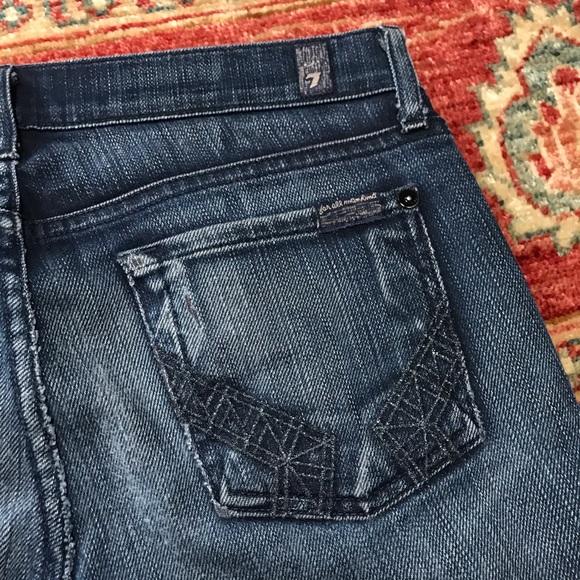 7 For All Mankind Denim - Seven for all mankind roxanne designer blue jeans